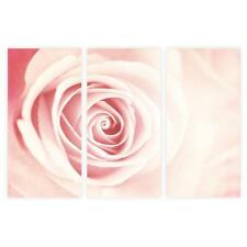Abstract Floral Wall Art Print Set, 3-Piece Blush Rose Decor by Galeria Rodrigo
