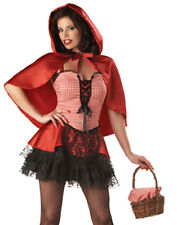 Sexy Gothic Little Red Riding Hood Lace Adult Womens Halloween Costume XS-L