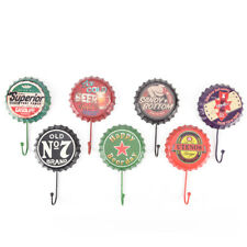 retro metal sign tin beer bottle cap cover hook pub bar club cafe home wall*v*