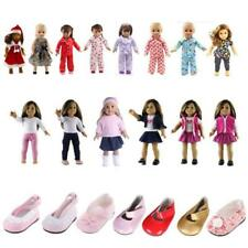 Dolls Shoes Pajamas Clothes For 18 inch American Girl Our Generation Dolls Accs