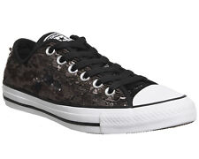 Womens Converse Converse All Star Low SEQUIN BLACK Trainers Shoes