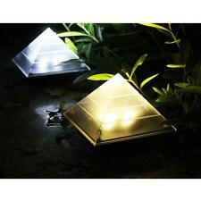 ABS Outdoor Solar Lights Garden Patio Post Stake Path LED Lights 2 Colors