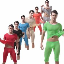Underwear Thermal Long Johns Set Pants Suit Stretchy Winter Solid Color