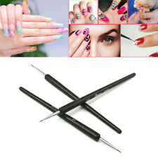 3Pcs Nail Art Pen Dotting Painting Drawing UV Gel Liner Polish Brush Accessories