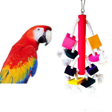 Pet Birds Parrot Blocks Toy Cages African Grey Cockatoo Parakeet Chew Fun Toy^v^