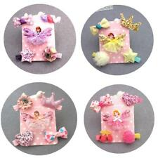 5 Girl's Beauty Doll Butterfly Hair Clips Bows Star Hairwear Accessories Infant
