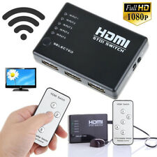 HDMI 5 Port Switch Hub Switcher Splitter Selector IR Remote 1080p For PS3 HDTV