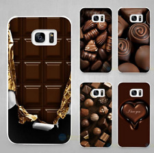 Chocolate and coffee Style Hard White Coque Shell Case Cover Phone Cases Galaxy