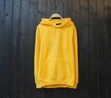 New Popular Unisex Young Cotton Design Long Sleeves Yellow Color Sweats