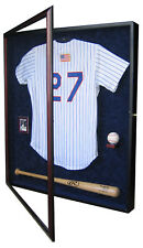 BASEBALL JERSEY, BASEBALL BAT, BASEBALL, AND CARD DISPLAY CASE - A USA PRODUCT!