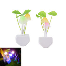 Sensor Night Light Mushroom LED Lamp EU/US Plug Romantic Colorful Home Decor  JR