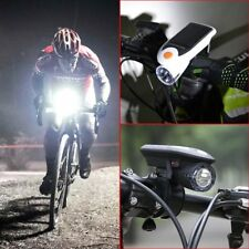 Bike Bicycle 4 LED Solar Power USB Rechargeable Front Head Light Headlight Lamp