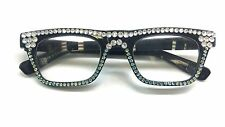READING GLASSES  WITH SWAROVSKI CRYSTAL ELEMENTS  +1.25 +1.75