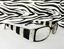 READING GLASSES MADE WITH SWAROVSKI CRYSTAL ELEMENTS +1.25