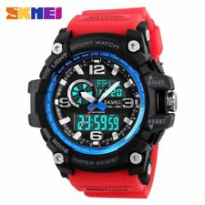 Mens Sports Dual Time Fashion Waterproof Countdown Alarm Digital Wrist Watch