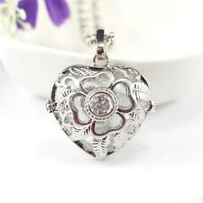 Heart Locket Pendant Necklace Perfume Essential Oil Aromatherapy Diffuser