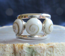 Ring Shiva Eye Sterling Silver 925 Shell Intarsia Silver Ring Shiva Eye