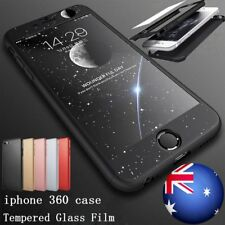 360° Hybrid Hard Ultra Thin Case+Tempered Glass Cover for Apple iPhone 6 7 8Plus