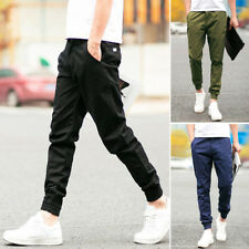Summer Korean Style Men Casual Pants Ankle Length Party Club Dance Trousers Hot