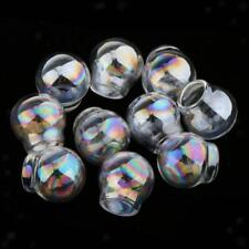 10pcs Open Mouth Glass Ball DIY Necklace Pendant Jewelry Mold Making Craft