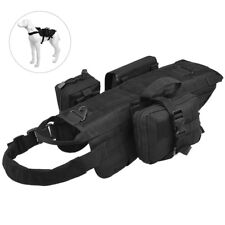 Dog Tactical Military Vest Training Outdoor Molle with 3 Detachable Pouches