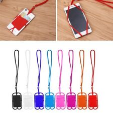 Detachable Silicone Lanyard Cell Phone Case Holder Neck Strap ID Card Slot TW