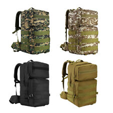 55L Molle Outdoor Military Tactical Bag Camping Hiking Trekking Cycling Backpack