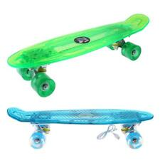 """22"""" Crystal Cruiser Complete Skateboard with LED Light Up Deck and Wheels"""