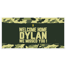 Welcome Home Camouflage With Ribbon Military Banner Party Backdrop