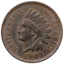 1903 Indian Head Cent About Uncirculated Penny AU