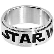 Licensed Star Wars Logo Stainless Steel Spinner Ring FREE GIFT CYBER MONDAY SALE