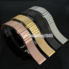 New 18 20 22 24mm Stainless Steel Mesh Watch Band Shark Diving Replacement Strap