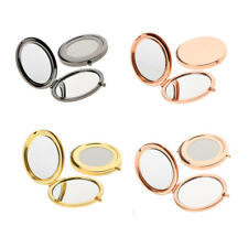2pcs Mini Round Portable Pocket Mirror Compact Double Side Makeup Cosmetic