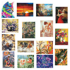 """DIY Paint By Number Kit Oil Painting On Canvas Wall Art Poster Decor 16X20"""""""