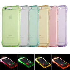 For iPhone X 7 6 6S Case Soft TPU LED Flash Light Up Remind Incoming Call Cover