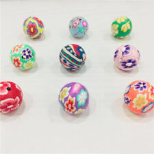 150pcs! Mixed Color Round Fimo Beads Polymer Clay Beads Finding 12mm/14mm