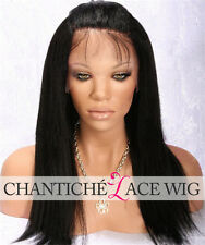 Coarse Yaki Human Hair Lace Front Wigs Brazilian Lace Front Wigs For Black Women