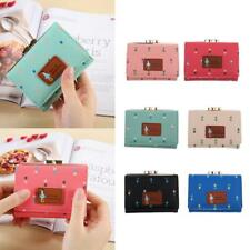 Womens Lady Mini PU Leather Wallet Purse Clutch Short Small Coin Bag Card Holder