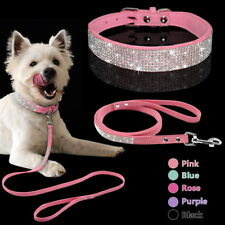 Bling Rhinestone Pet Dog Collars and Leads Leash for Small Medium Dog Puppy AS