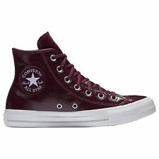 Converse Chuck Taylor All Star Hi Dark Sangria Womens Patent Leather Trainers