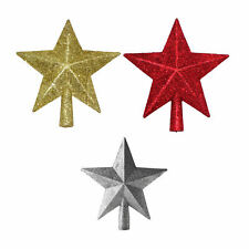 Gold/Red/Silver Glitter Star Christmas Tree Topper Decoration