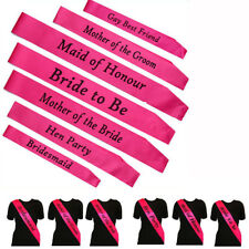 HEN NIGHT SASH BRIDE ACCESSORIES PARTY SASHES GIRLS NIGHT OUT WEDDING MAID