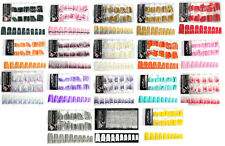 New Glittery French Nail Tips For Acrylic False Nails Design Makeup 70 pcs Each