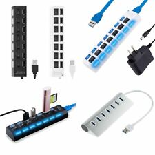High Speed 7 Port USB 2.0/3.0 HUB Splitter Expansion For Desktop PC Laptop Lot