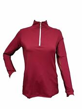 Tailored Sportsman Ladies Icefil Zip Top Riding Equestrian Shirt, XS-L, Claret