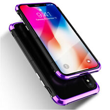 For Apple iPhone X Aluminum Metal + PC Hard Slim Back Case Cover For Apple iPhon