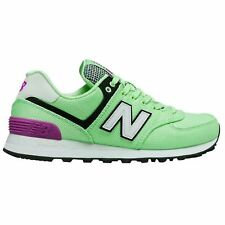 New Balance 574 Art School Agave Poisonberry Womens Mesh Sneakers Trainers