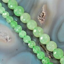 """Natural Green Aventurine Faceted Round Beads 15"""" , pick your size"""