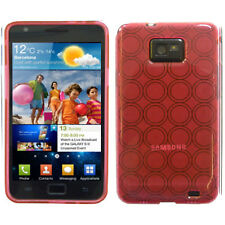 Pink TPU circle Gel Silicon Skin Soft Case Cover For Samsung Galaxy S2 SII i9100