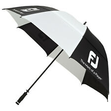 "FootJoy Double Canopy 68"" Umbrella - New Golf Dual Windproof XL Brolly"